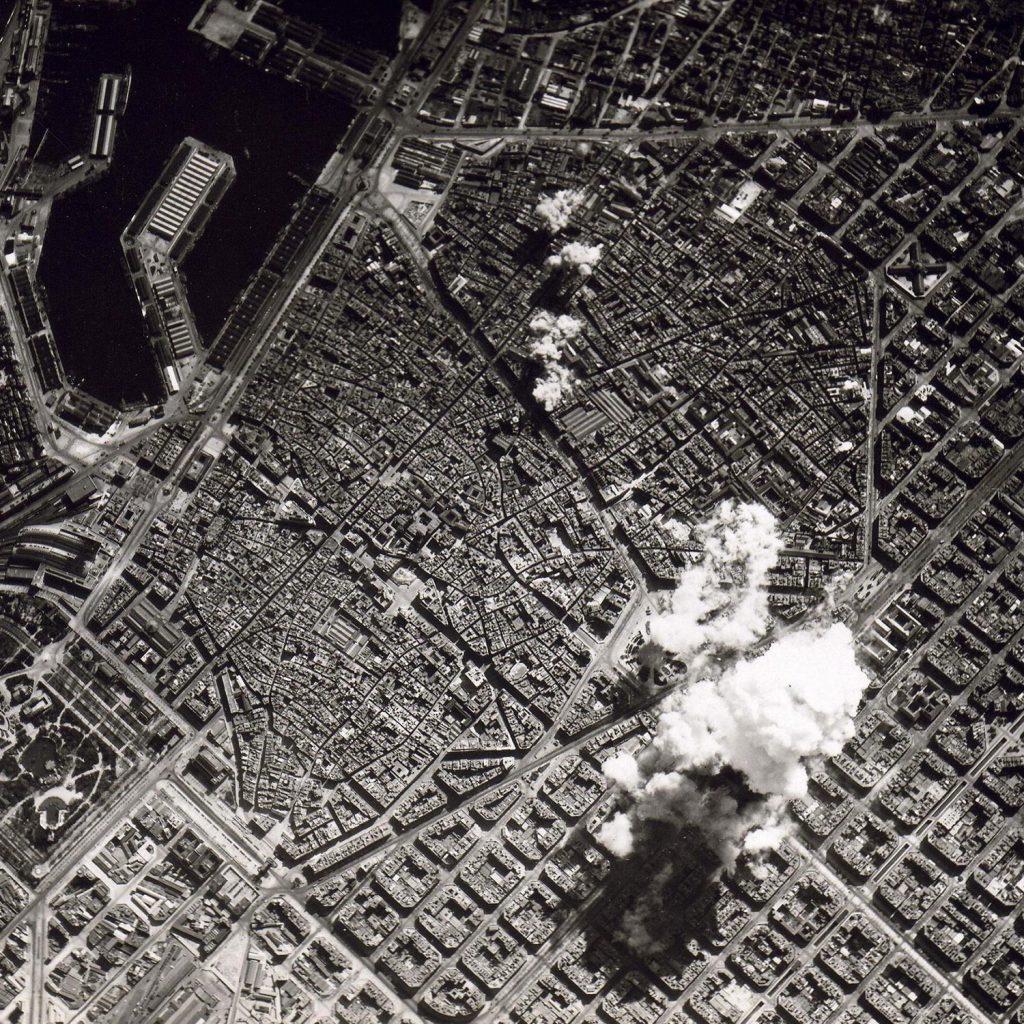 Bombardeo en Barcelona