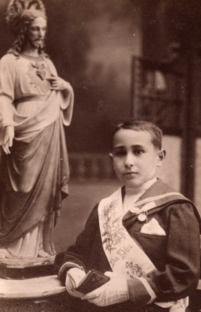 Juan Pujol first communion